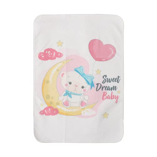 Toddmomy Alfombrilla Cambiadora de Pañales para Bebés con Patrón de Oso Lindo de Doble Cara de Algodón para Bebés Alfombrillas de Cambio de Alfombrilla Forro de Cama