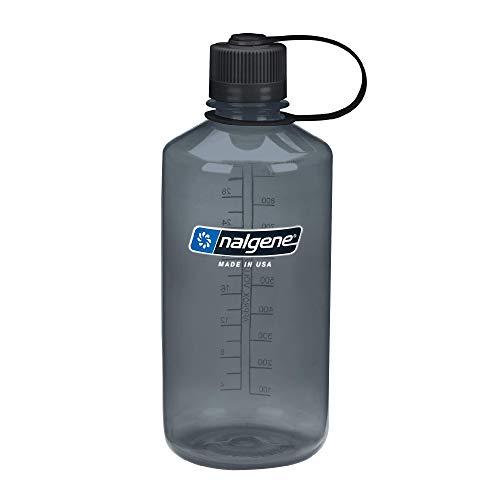 Nalgene Tritan Narrow Mouth BPA-Free Water Bottle, Gray, 32 oz