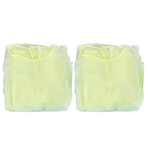 Artibetter 8 Piezas Vestido de Protección Amarillo Traje de Protección Transpirable Resistente a Salpicaduras Ropa de Protección Contra El Polvo para Mujeres Hombres