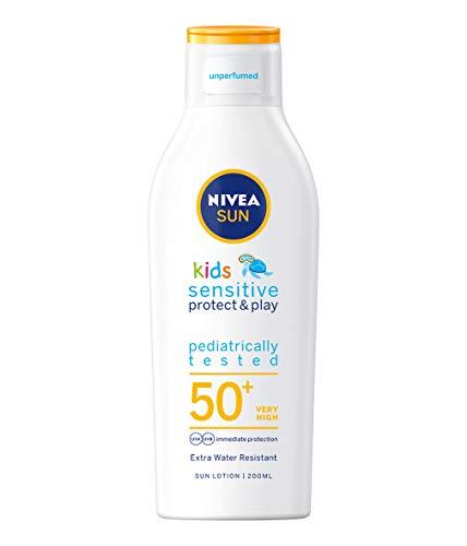 Nivea - Kids protect and sensitive, loción solar con, factor de protección...
