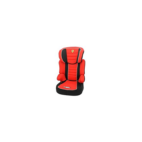 Ferrari Kindersitz mit Rückenlehne, ohne Gurte, Befix Sp, 15–36kg, Rot