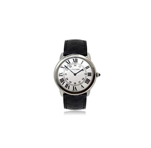 Cartier Ronde Solo Reloj de Cuarzo Suizo para Hombre 3603 (Certificado prepropietario)