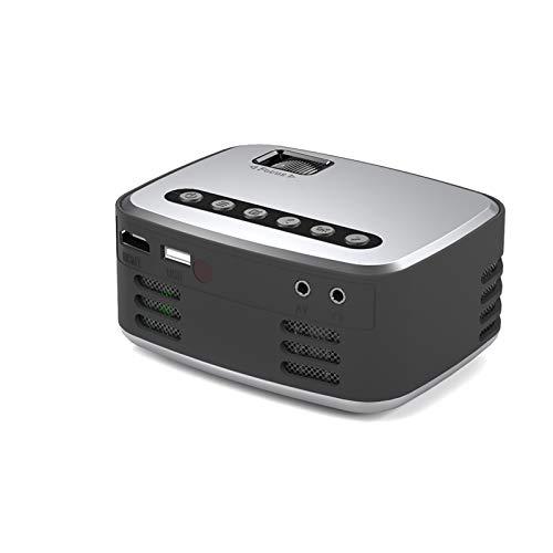 HSD T20 Mini tragbare Tasche Heimkino-Projektor 3D HD 1080P LED Kino AV USB Beamer,Mini Beamer Support 1080P Full HD Video Beamer- 114 * 91 * 51 mm (A)