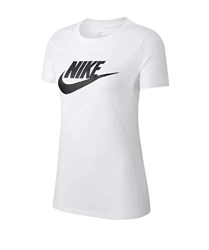 Nike Essential Futura Icon Women Shirt (M, White/Black, m)