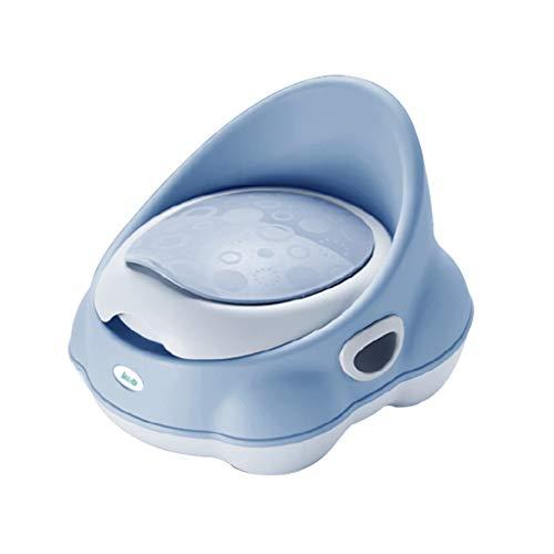 Toilette pour bébé pour enfants Toilette pour enfant Toilette pour homme Toilette pour bébé Infantile femelle Urinoir séparable Design PP Matériau Culture Toilettes indépendantes ( Couleur : Bleu )