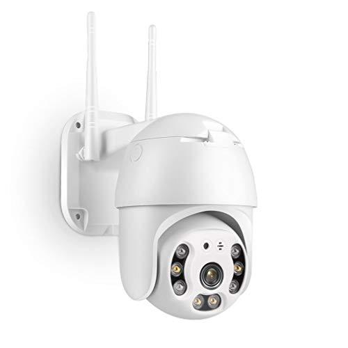 Überwachungskamera Aussen WLAN, TMEZON PTZ Dome WiFi Kamera, 1080P WLAN IP Kamera, PIR Mensch Bewegungsmelder, Automatische Verfolgung, 30m Nachtsicht in Farbe, 2-Wege-Audio, SD-Kartenslot