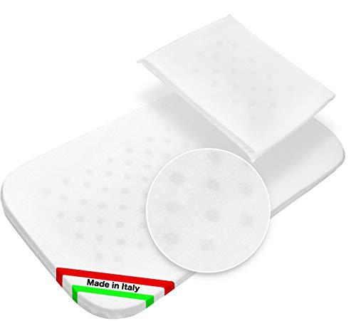 Colchón para cuna, colchoneta para cochecito y almohada antiasfixia, fabricado en Italia (colchón de 70 x 35 cm) (colchón de cuna, 70 x 35 cm)