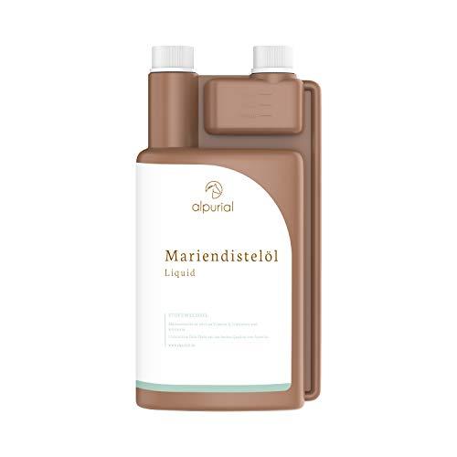 Alpurial Mariendistelöl für Pferde – fördert den Fellwechsel beim Pferd – Mariendiestelöl unterstützt die Leber- & Nierenfunktion – kaltgepresst