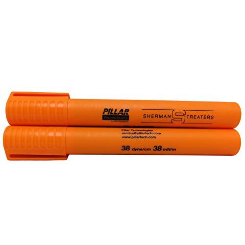 MXBAOHENG 10 stks/doos Dyne Surface Tension Test Pen 40 kleurstof/cm,Kunststoffilm Oppervlaktespanningstest, Oppervlaktespanningstest Corona Dyne Pen