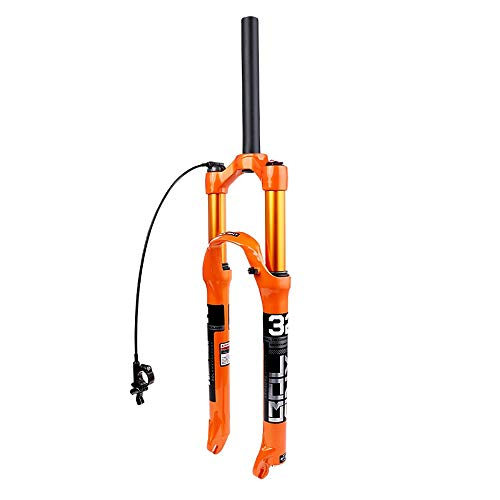 QXFJ 26/27.5 Inch Bicycle MTB Fork, Air Fork/Magnesium Alloy/Opening 100mm/Straight Tube 28.6220mm/Stroke Tube 12032mm/Lower Leg Tube 38mm
