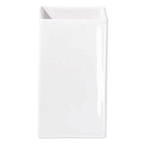 ASA Blumenvase, Keramik, weiß, 11.5x11.5x21 cm