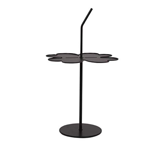 NSYNSY Tavolini per sedie, tavolino Petalo con gambe in Metallo, divano del soggiorno, tavolino multifunzione, 44 * 73 cm (Colore: Nero)