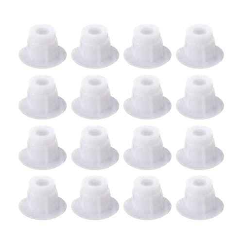 Niaciswe Tapa Agujeros Mueble 500 Piezas 5mm Tapas de Plástico para Perforar Agujeros Tapones para Agujeros de Perforación Plasticos para Cubrir Muebles Plasticos para Cubrir Tapa Blanco