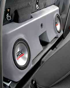 MTX Bass Slammer Unloaded Subwoofer Box for 2 10' Subs for Ford F-250 Regular Cab Pickup 2000-2006 TAN F250R00T20U
