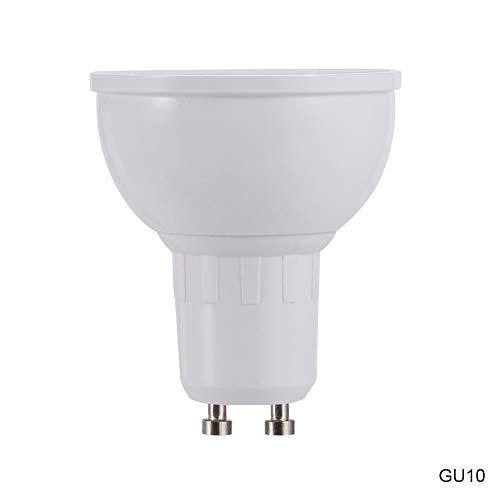 Liamostee - Bombilla LED inteligente WiFi RGBW con control de tiempo regulable para Amazon Alexa y Google Home, Gu10, GU10