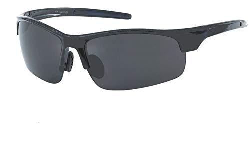 Chic-Net Hochwertige Sonnenbrille Sport getönt 400 UV unten frameless schwarz transparent farbig blau