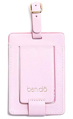 Ban.do Women's Getaway Leatherette Pink Luggage Tag with Strap, I'm Outta Here