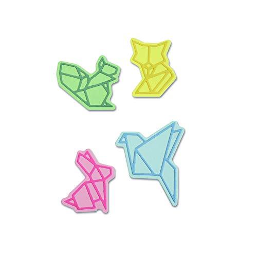 Sizzix Thinlits Troqueles 8PK Animales de estilo origami
