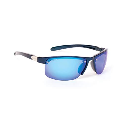 Del Sol Solize - Gafas cambian de color para hombre, California Sun, cambia de color de carbón a azul, lentes espejadas, 100% protección UVA/UVB