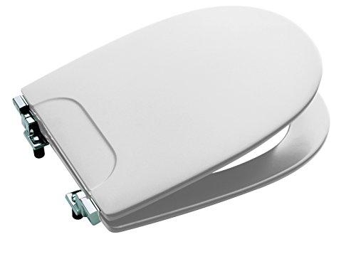 Roca Atlanta A801289004 toiletbril, met verchroomde scharnieren, wit