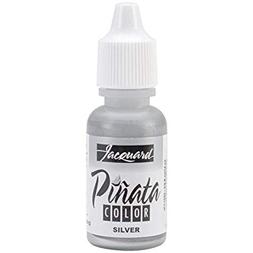 Jacquard Products Pinata Color Alcohol Inks, 1/2-Ounce, Silver