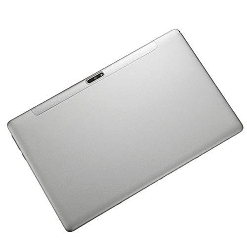 Kaxofang Tablet PC, Procesador Octa-Core 4G la Red Puede Flashear RáPidamente la Memoria de 12 Pulgadas Tablet PC (32G, Enchufe de la EU, Plateado)