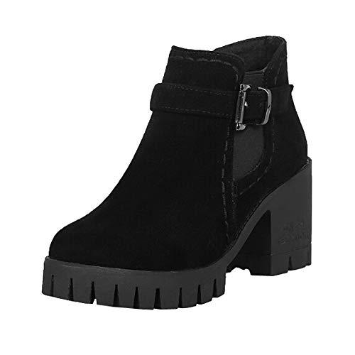 Botas de tacón Alto Plataforma para Mujer QinMM Zapatillas Botines Zapatos de otoño Invierno Fiesta