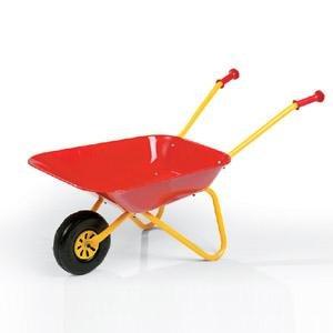 Kinder - Schubkarre Metall, gelb/rot, belastbar bis ca. 50 kg