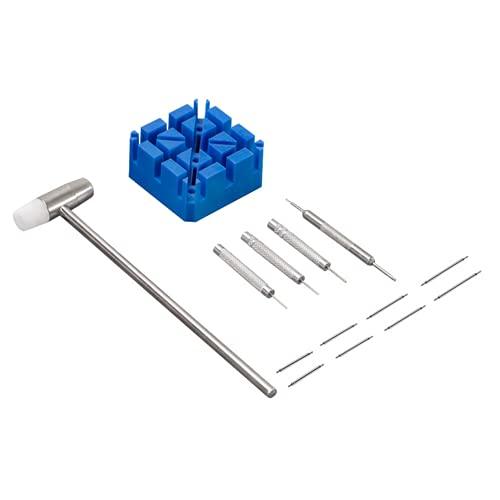 LATRAT - Kit di riparazione per orologio professionale 14 in 1, con cacciavite per rimuovere le maglie, per braccialetto, kit di riparazione orologio cinturino per orologio