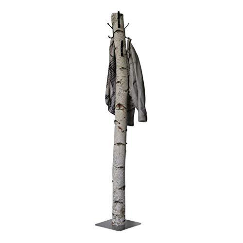 Staande Kapstok Berk, zwarte haken, RVS Voet 170 cm
