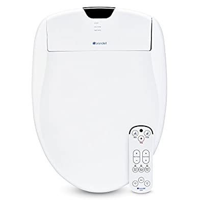 Brondell Swash 1200 Luxury Bidet Toilet Seat in White with Dual Stainless-Steel Nozzles | Endless Warm Water | Programmable User Settings | Self-Cleaning Nozzles Nightlight