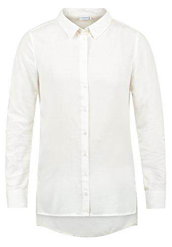 ONLY Smilla Damen Lange Bluse Hemdbluse Langarm Mit Kragen Und Optionalen Nadelstreifen Loose Fit, Größe:36, Farbe:Cloud Dancer