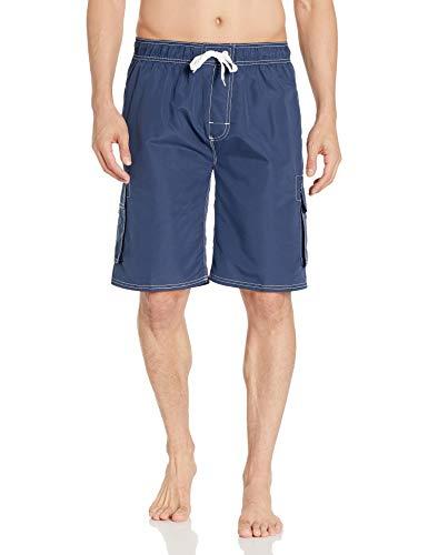 Asbury Threadz Herren Mako Core Performance Badehose mit elastischer Taille, Navy, X-Large