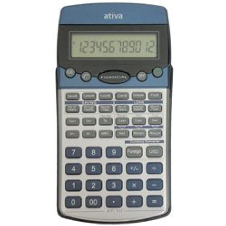 こんにちはキャンバス排泄するAtiva at-10金融電卓、シルバー/Blu