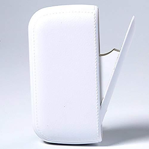 Bias&Belief Zigarettenetui,USB-Elektro Feuerzeug,Wasserdicht und Feuchtigkeitsbeständig,Leicht und Tragbar,für 10 Normale Zigaretten oder 20 Dünne Zigaretten,Weiß