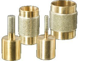 Stained Glass Grinder Head Bit 4 Sizes Diamond on Brass Core