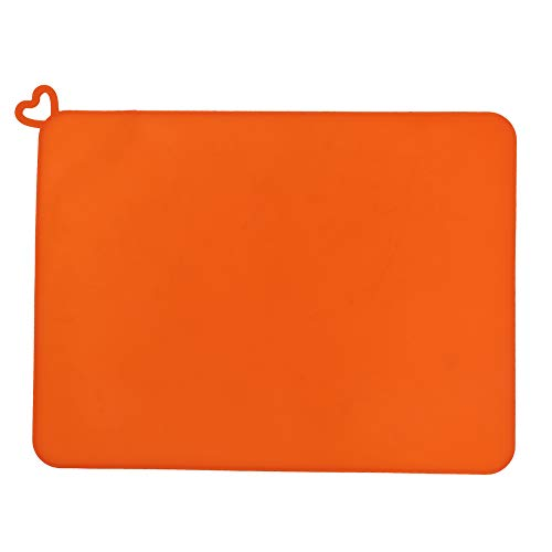 fasient1 3D Printer Silicone Mat,414x310mm Soft Anti-Slip Shockproof Photosensitive Resin Pad for DLP SLA,High Temperature Resistance,Orange