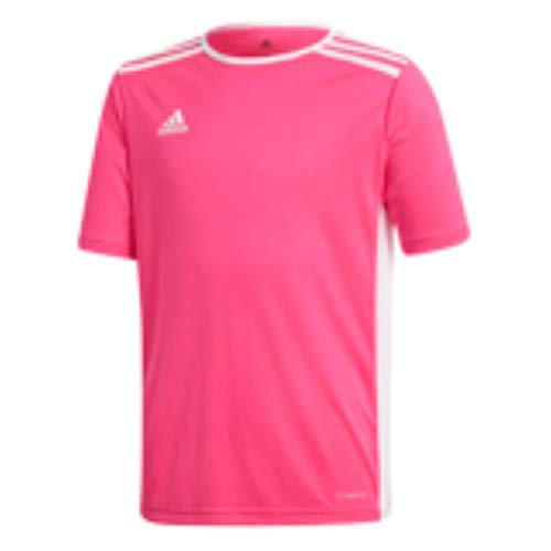 adidas Entrada 18 - Camiseta de entrenamiento - F1706GHTM111, playera Entrada18, XL, Rosa y blanco.