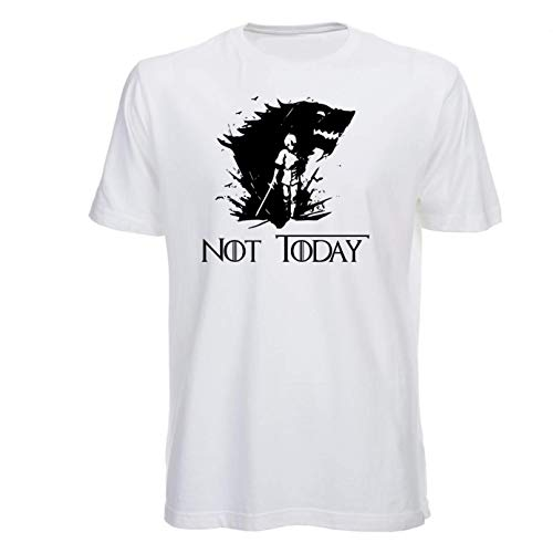 T Shirt Not Today, Arya Stark, Game of Thrones, Juego de Tronos, House of Stark, Series TV