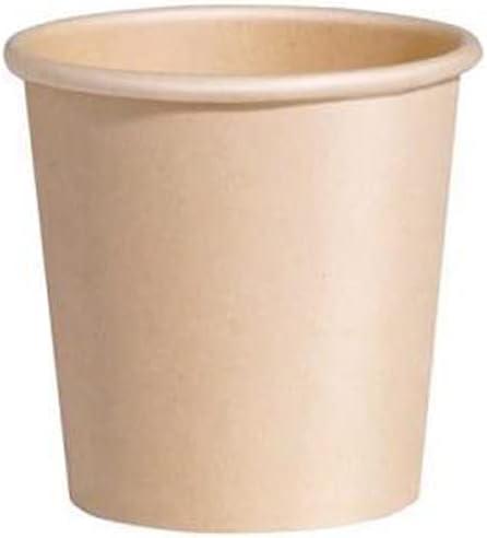 Vasos de Cartón Desechable Kraft, Copas Papel Biodegradable y Compostable, Ecológicas, Vasos para café, bebidas frías y calinetes, Resistentes, No apto para horno y microondas (250 cc, 30 vasos)