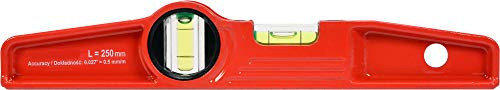 Aludruckguss Wasserwaage Trapez 250 mm mit Magneten 2-Libellen