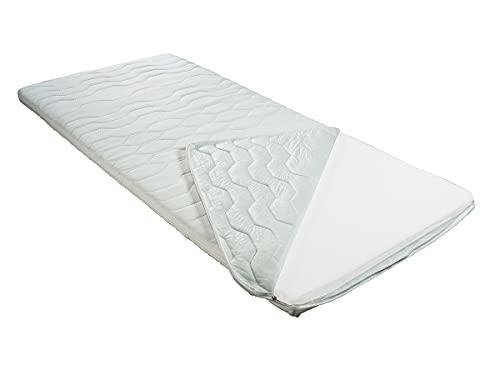 BMM Topper Klassik KSCell®-Schaum Matratzenauflage für Matratzen, Doppeltuch Bezug, anschmiegsam und weich, Härtegrad H2 Soft, Höhe 6cm, 100x200 cm