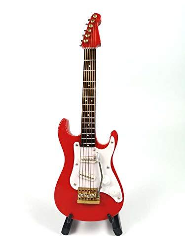 ALANO Modelo de Guitarra eléctrica roja Modelo de decoración Modelo de Guitarra con Caja de Regalo (GE34R-10-S)