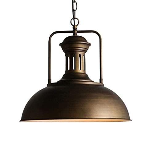 LLLKKK Lámpara de techo estilo americano rústico, creativa, retro, industrial, ajustable, luz de pluma, vintage, restaurante, metal de hierro, E27 (color: vintage)
