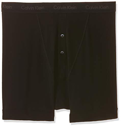 Calvin Klein Mens Basics Button Front Boxer Briefs Black X Large