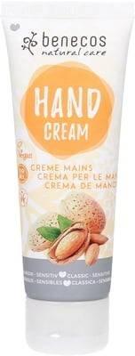 BENECOS Natural Hand Cream Classic - Sensitive Crème pour les mains adaptée aux peaux sensibles - Formule légère - Sans substance parfumante irritante - Absorbée rapidement - 100% vegan - 75 ml