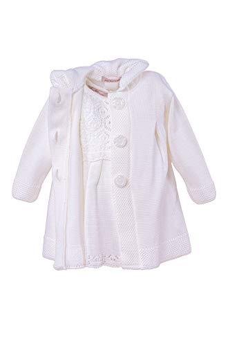 Cocolina Taufkleid Strickkleid Set Mantel Mütze Kleid (68 (3-6M))
