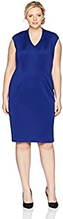 S.L. Fashions womens Cap Sleeve Midi Dress Plus Special Occasion Dress