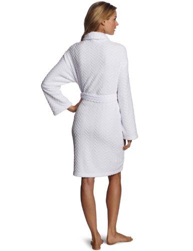 Seven Apparel Hotel Spa Collection Herringbone Textured Plush Robe, Optic White