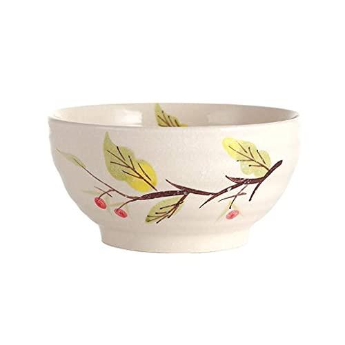 LXM Cuenco de sopa para fideos, ramen japonés, vajillas de cerámica, para servir para ensalada, pasta, cereales, frutas (color: #1)
